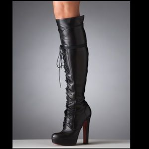 CHRISTIAN LOUBOUTIN LACE UP BOOT